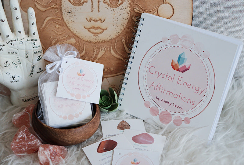 Crystal Energy Affirmations Cards by Ashley Leavy