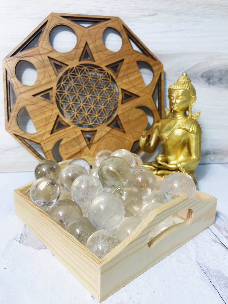 Clear Quartz Mini Spheres for Amplifying Energy & Intention