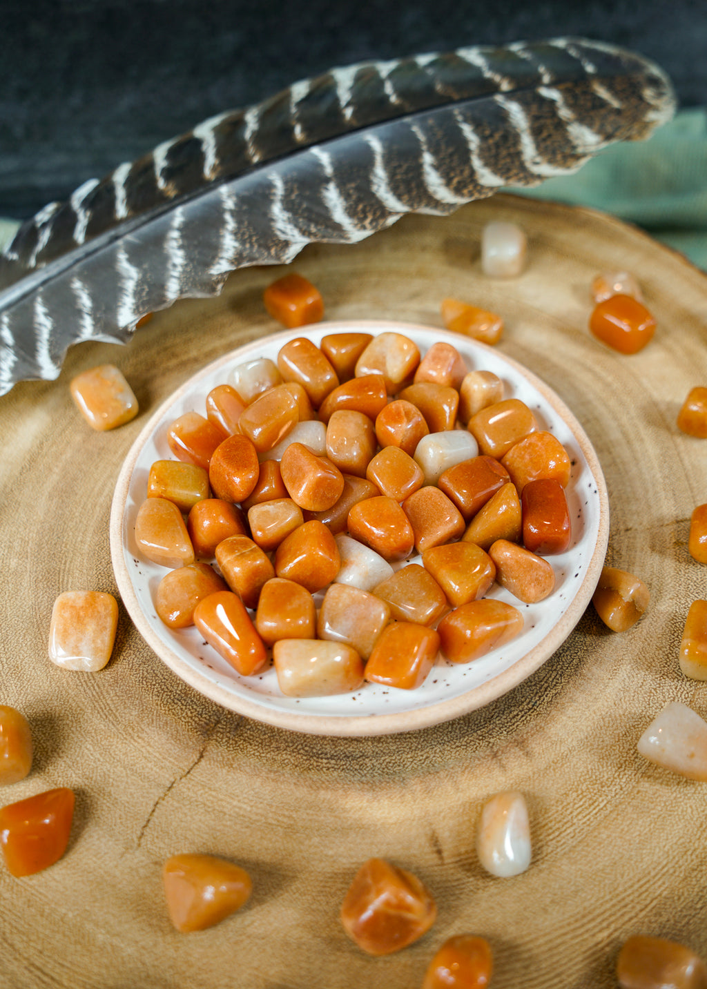 Tumbled Orange Aventurine for Inner Reflection