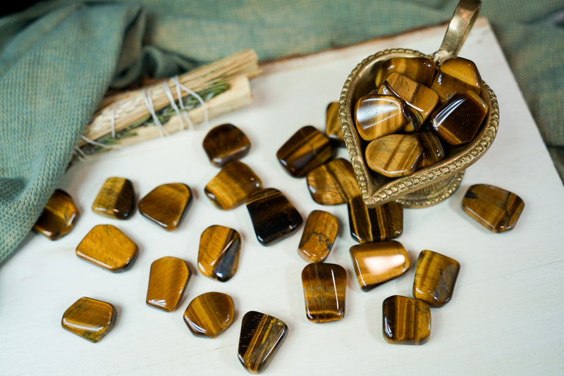 Tumbled Golden Tiger's Eye for Personal Power & Energy