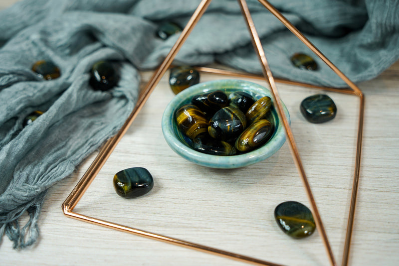 Tumbled Blue Tiger's Eye for Power & Communication