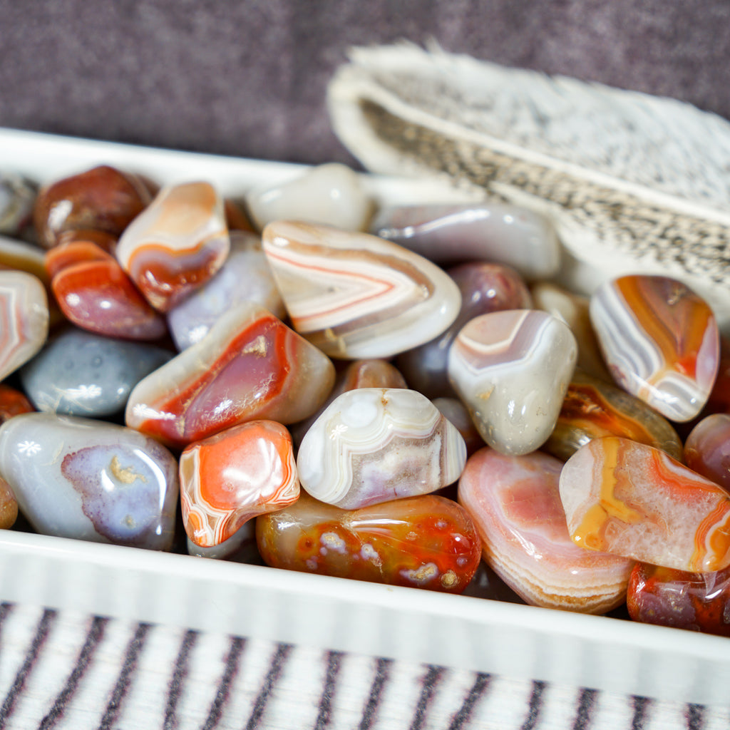 Tumbled Red Banded Agate for Creative Flow