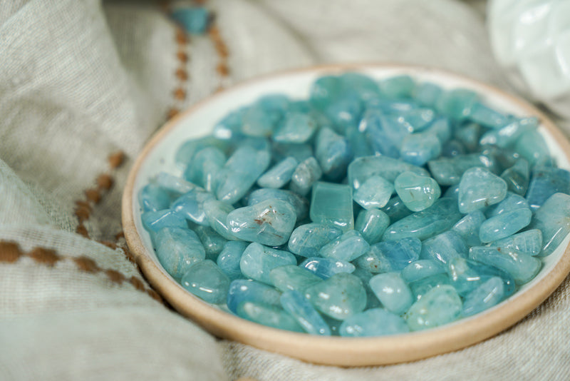Tumbled Aquamarine for Tranquility