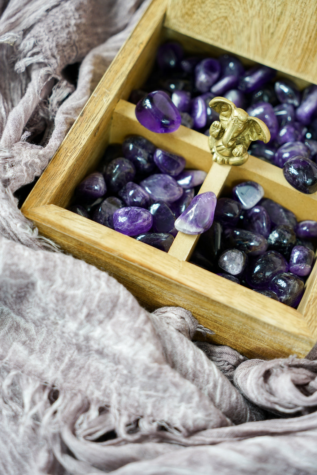 Tumbled Dark Amethyst for Spirituality & Dreams