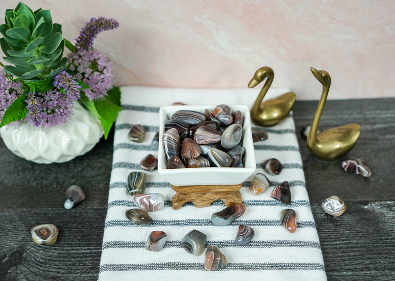 Tumbled Brown Botswana Agate for Healthy Body Image