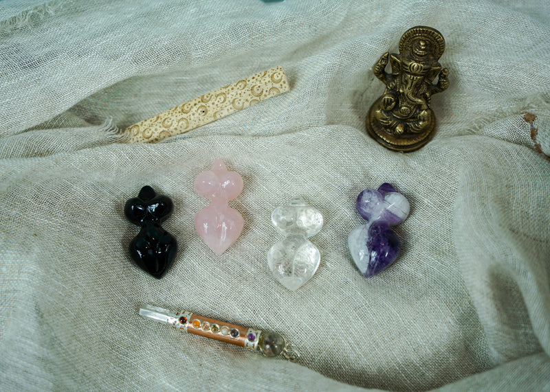 Carved Crystal Goddesses - Various Styles