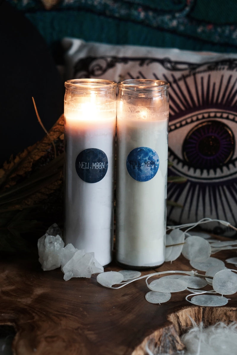 Full Moon -OR- New Moon 7-Day Ritual Candles