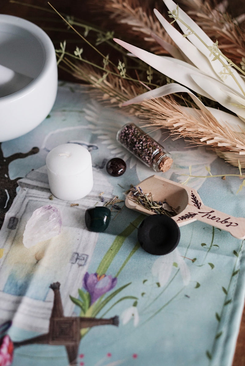 Imbolc Altar Cloth -OR- Ritual Kit