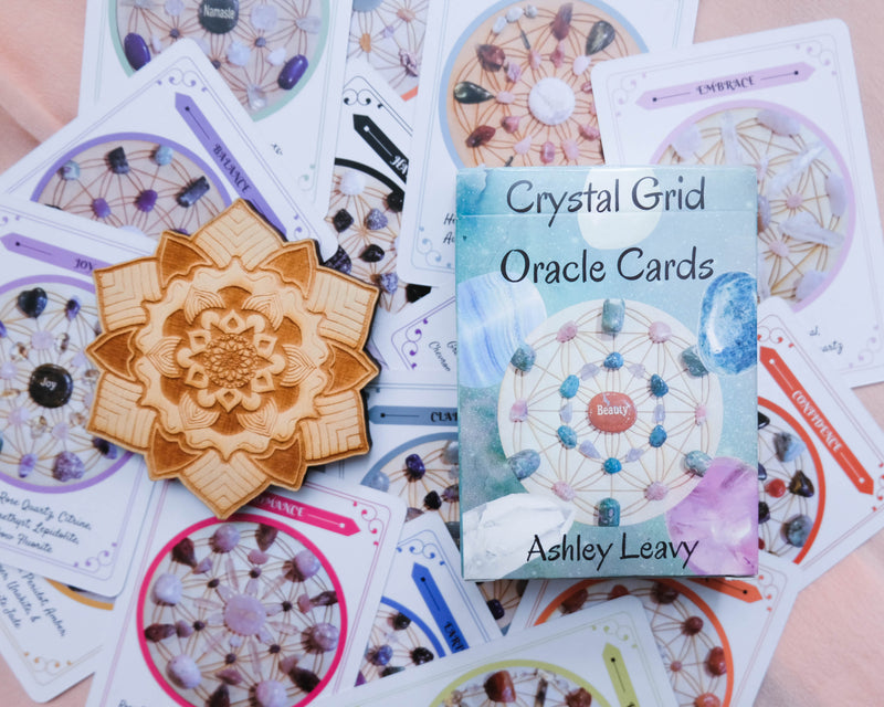 Crystal Grid Oracle Cards by Ashley Leavy