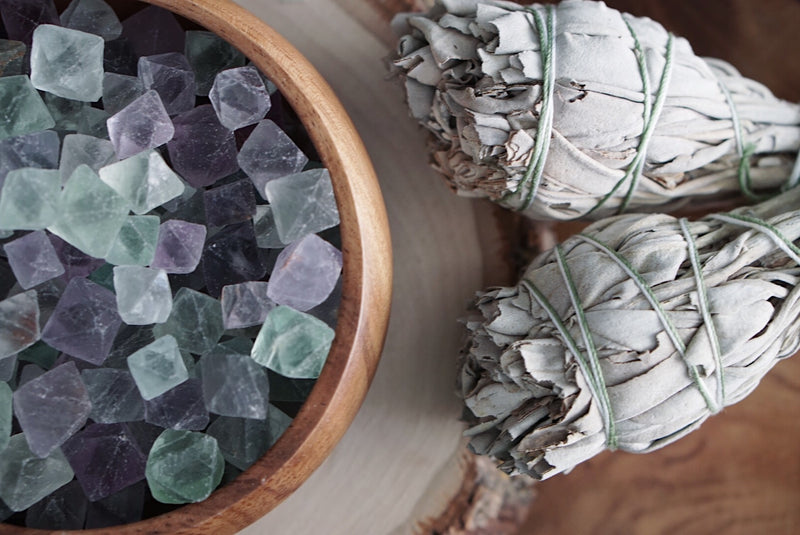 Fluorite Octahedrons for Balance & Stress Reduction