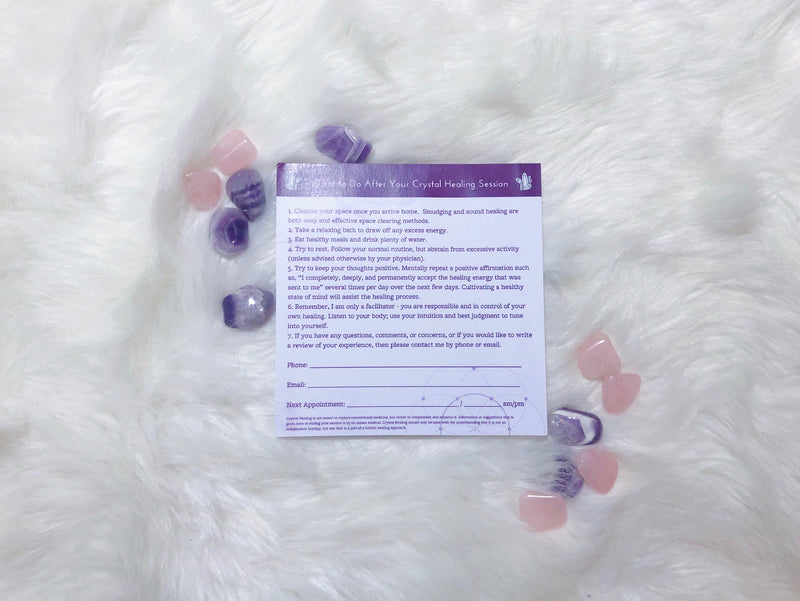 [CRYSTAL HEALER TOOLS] After Session Handout Notepads