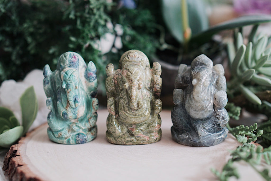 Ganesh Crystal Carvings