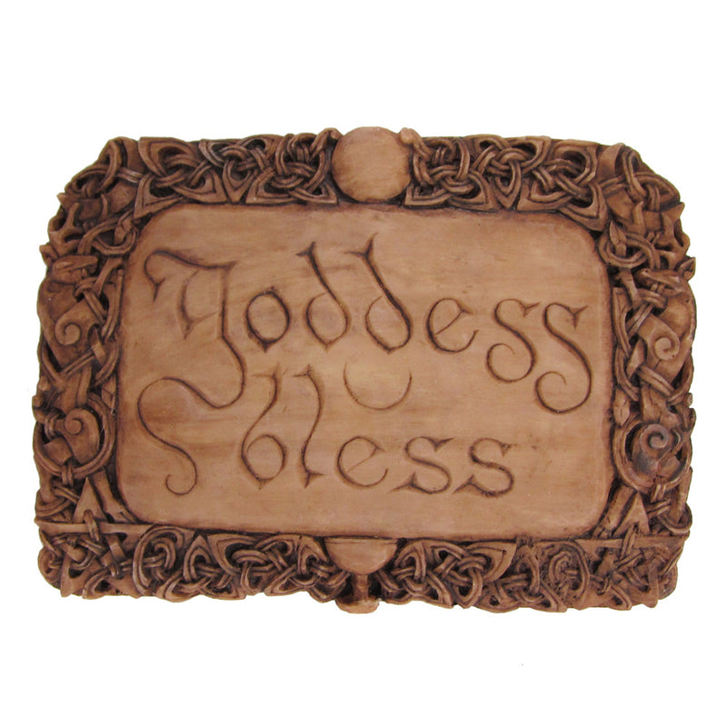 Goddess Bless Wall Plaque