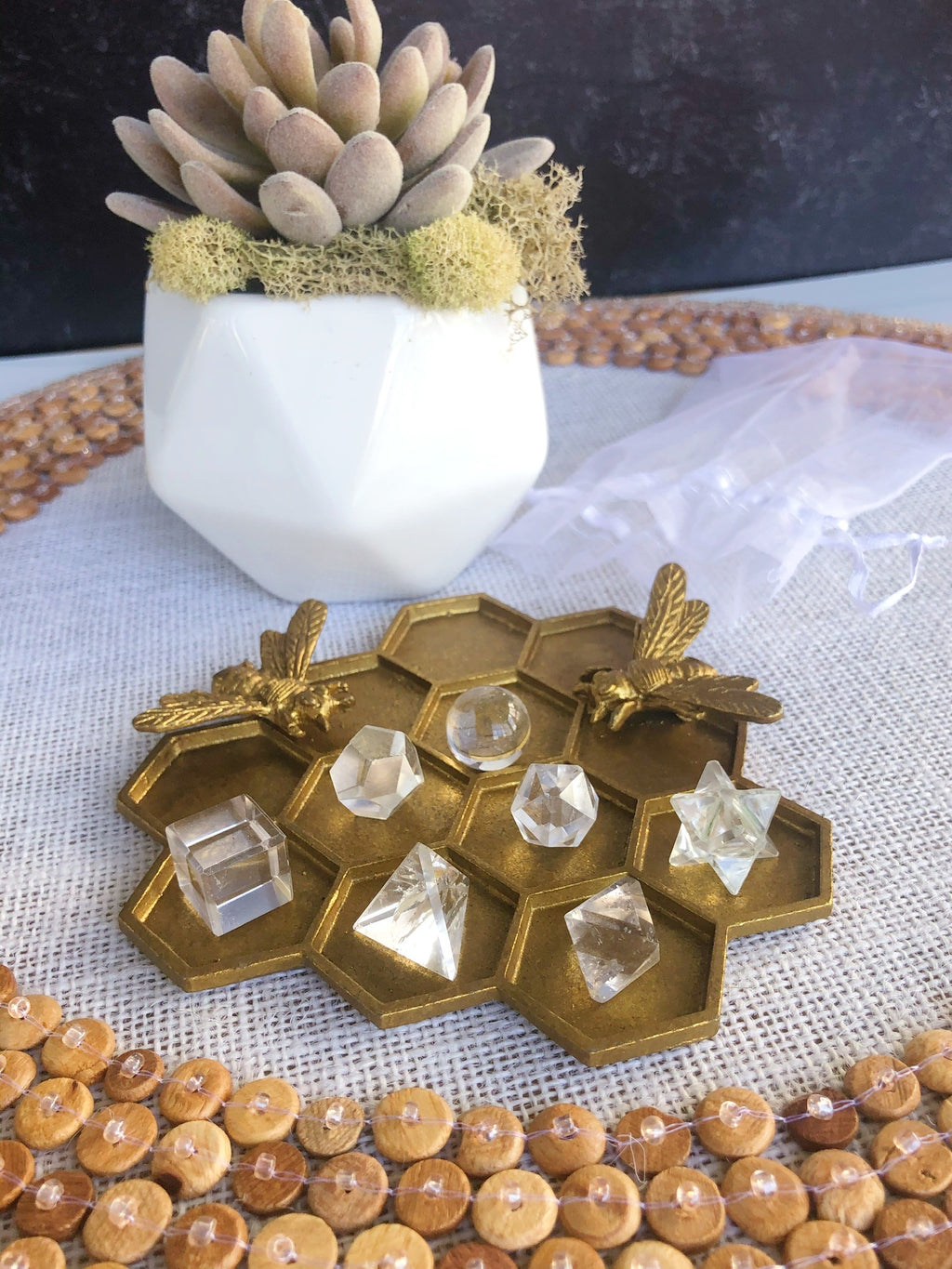 Crystal Sacred Geometry 7 Piece Platonic Solids Sets