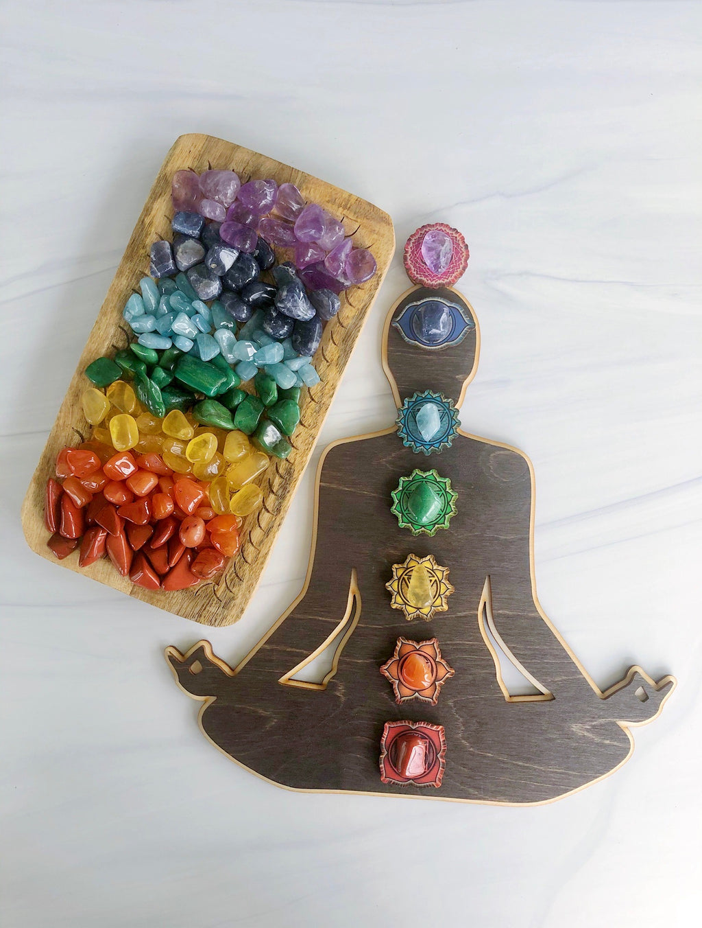 Tumbled Chakra Stones Crystal Kit with Pouch