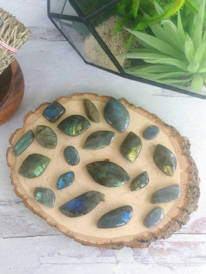 Carved Labradorite Cabochon Freeforms for Spiritual Beauty