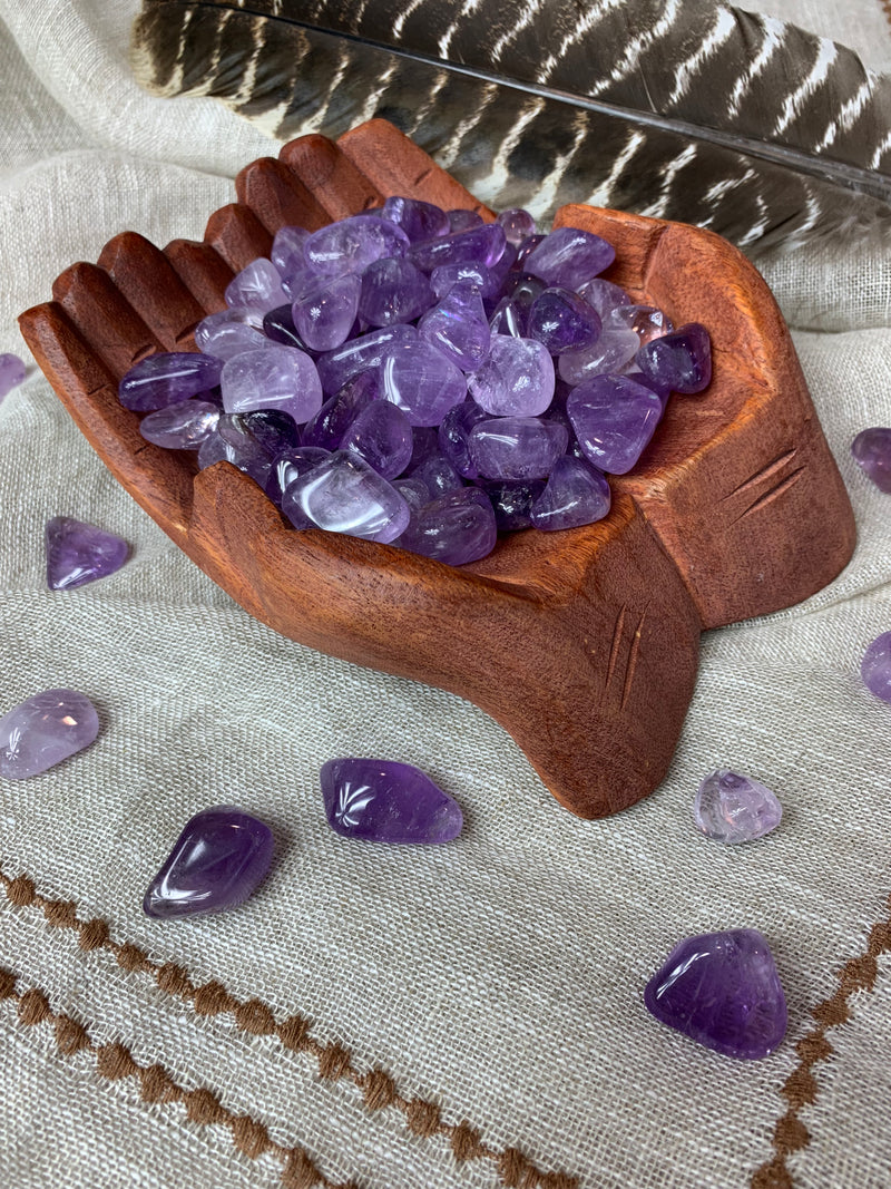 Tumbled Light Amethyst for Protection & Healing