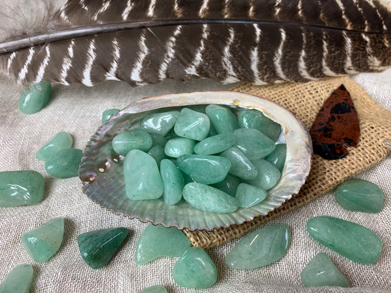 Tumbled Light Green Aventurine for Good Luck