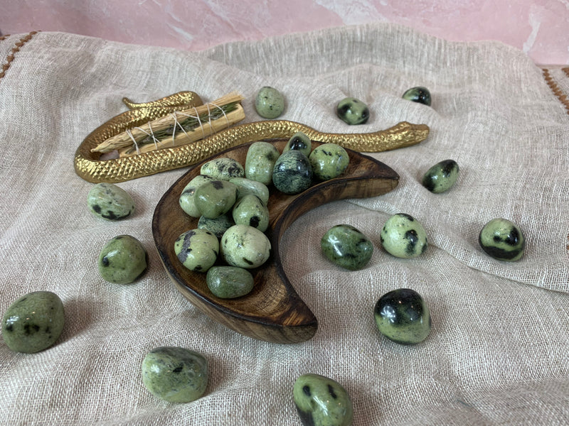 Tumbled Chytha Jade Stone for Creating Positivity