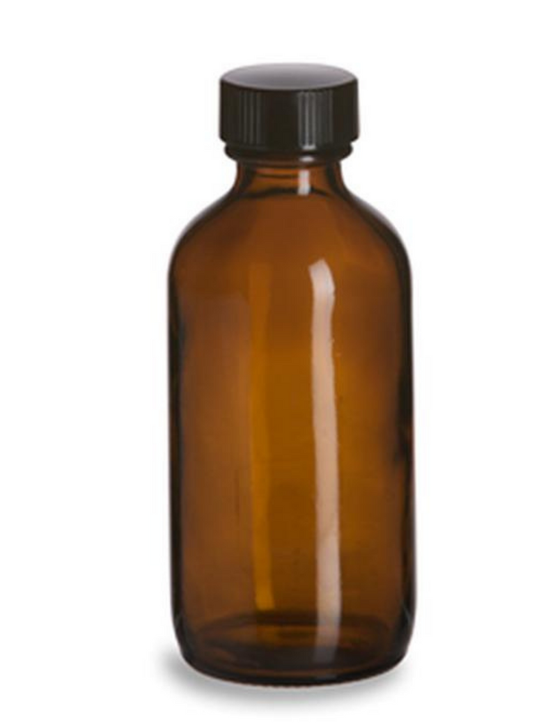 Glass Apothecary Bottle with Cap - Various Colors
