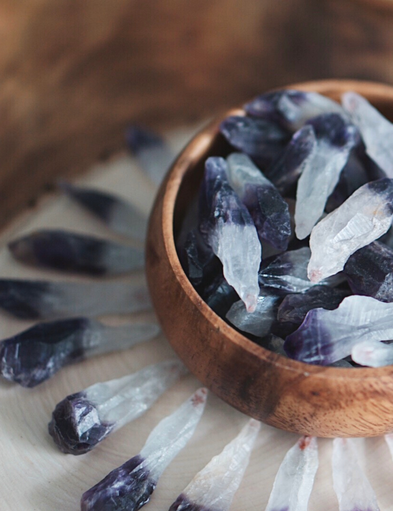 Dark Amethyst Points for Protection & Healing