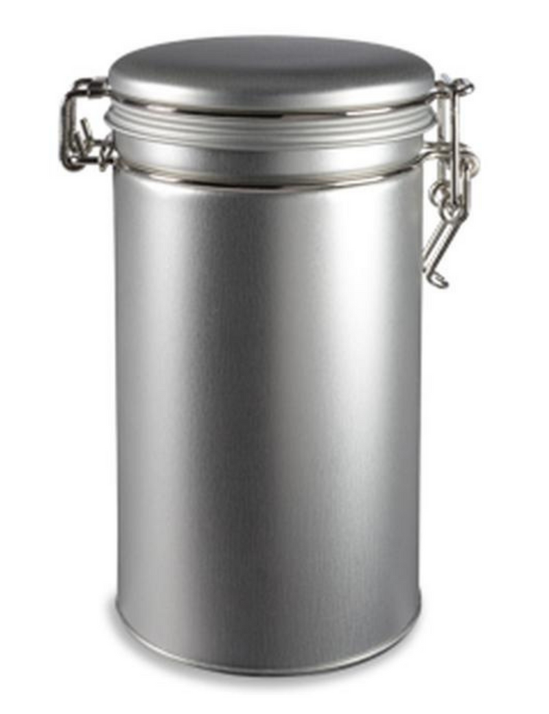 Round Tea Tin Canister with Latch Cover
