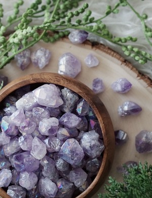 Angel Aura Amethyst Mini Clusters for Angelic Guidance
