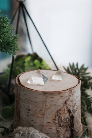 Clear Quartz Mini Pyramids for Amplifying Energy & Intention
