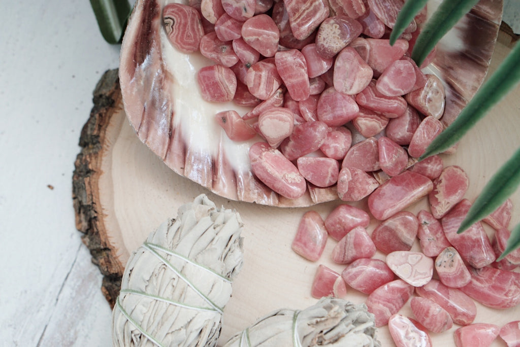 Tumbled A-Grade Rhodochrosite for Emotional Release