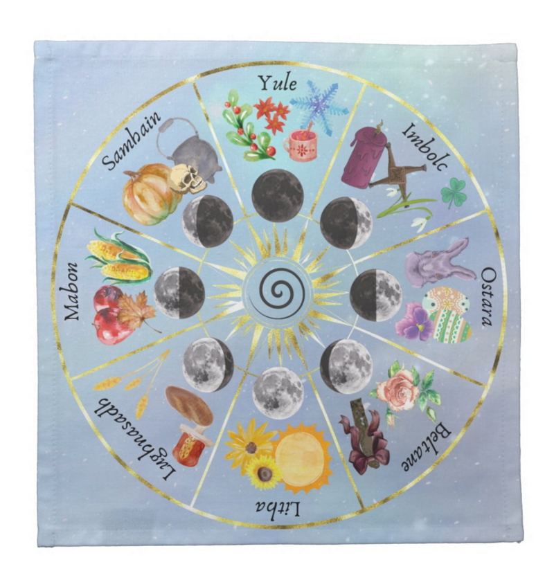 Wheel of the Year Altar Cloth