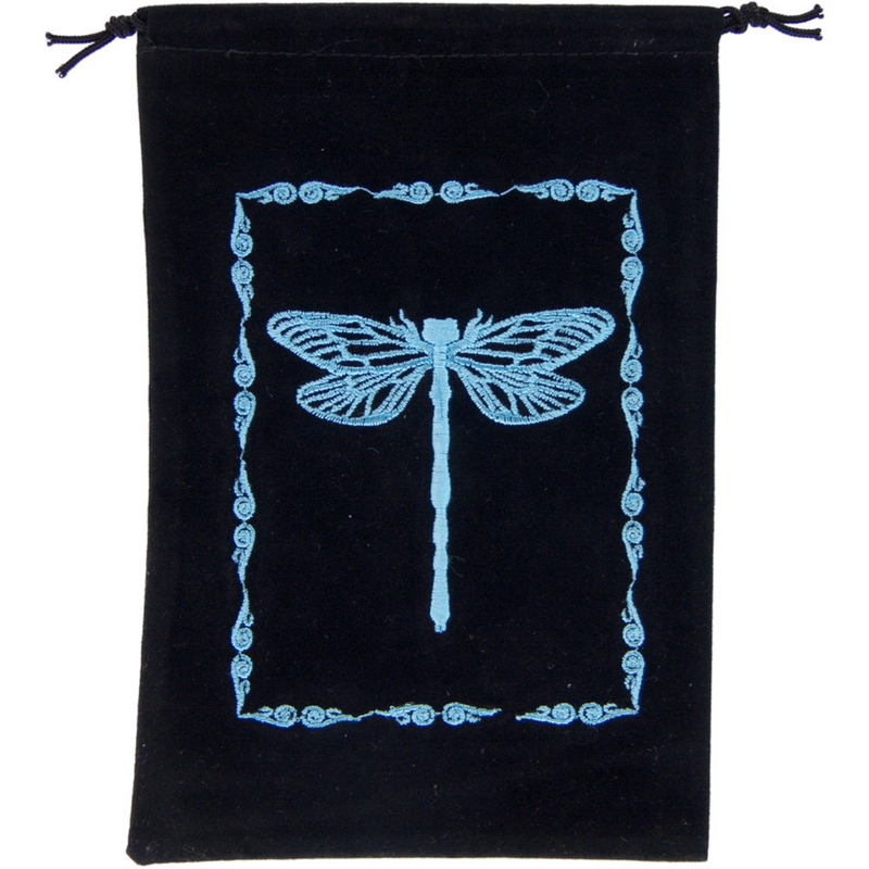 Embroidered Black Velvet Pouches - Various Designs