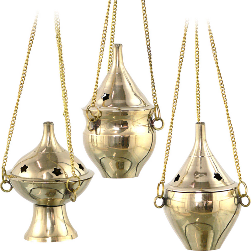 Brass Hanging Incense Burners - Various Styles