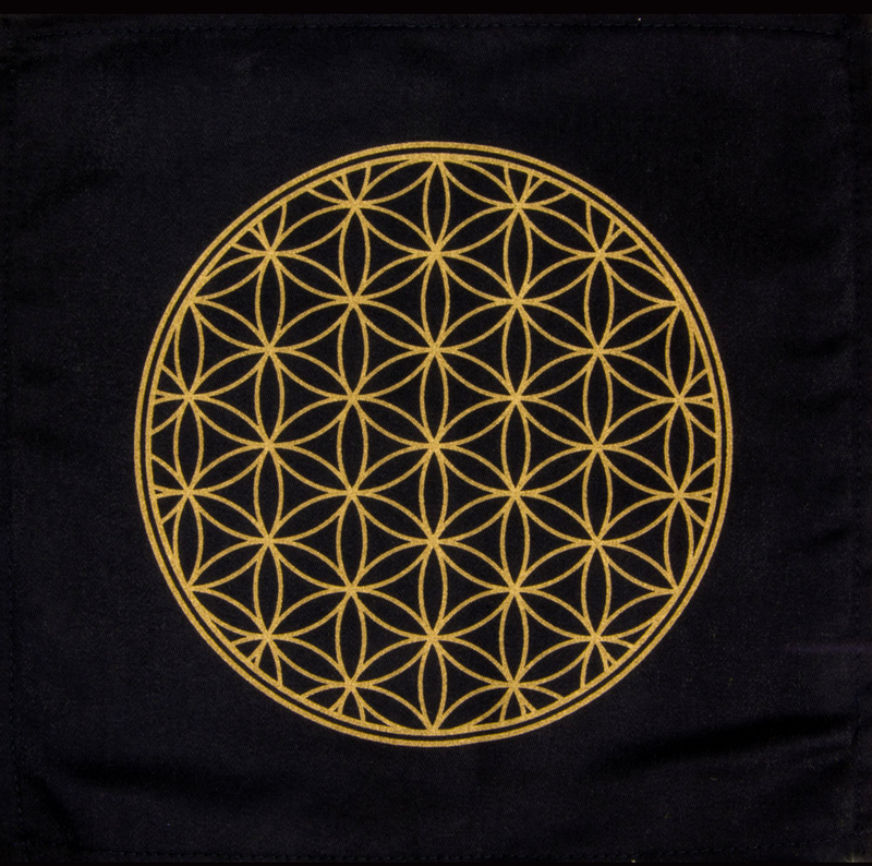 Cotton Crystal Grid Altar Cloths - Various Styles