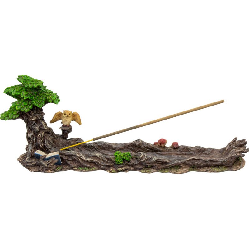 Green Man Incense Holder Sled