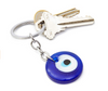 Glass Evil Eye Keychain