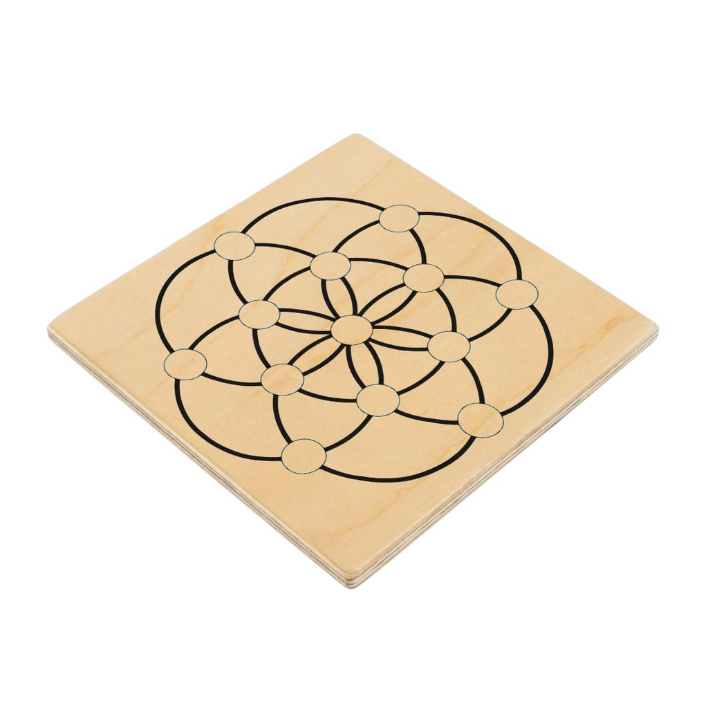 Seed of Life Square Crystal Grid Bases - Various Sizes