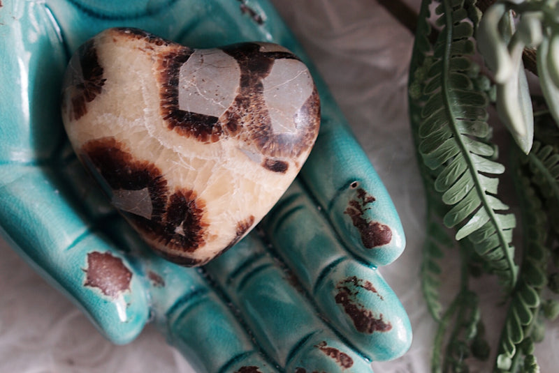 Septarian Heart Carvings for Calming & Tranquility