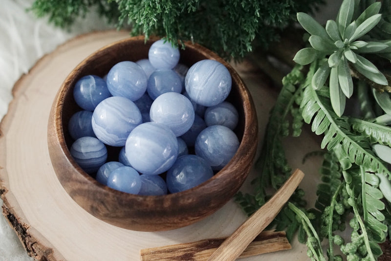 Blue Lace Agate Mini Spheres for Happiness & Personal Growth