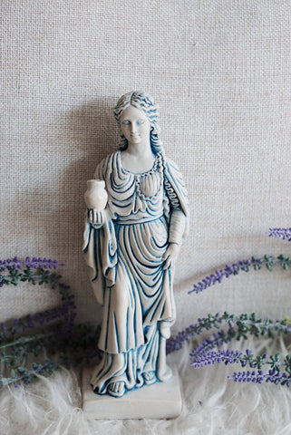 Mary Magdalene Blue Gypsum Statue
