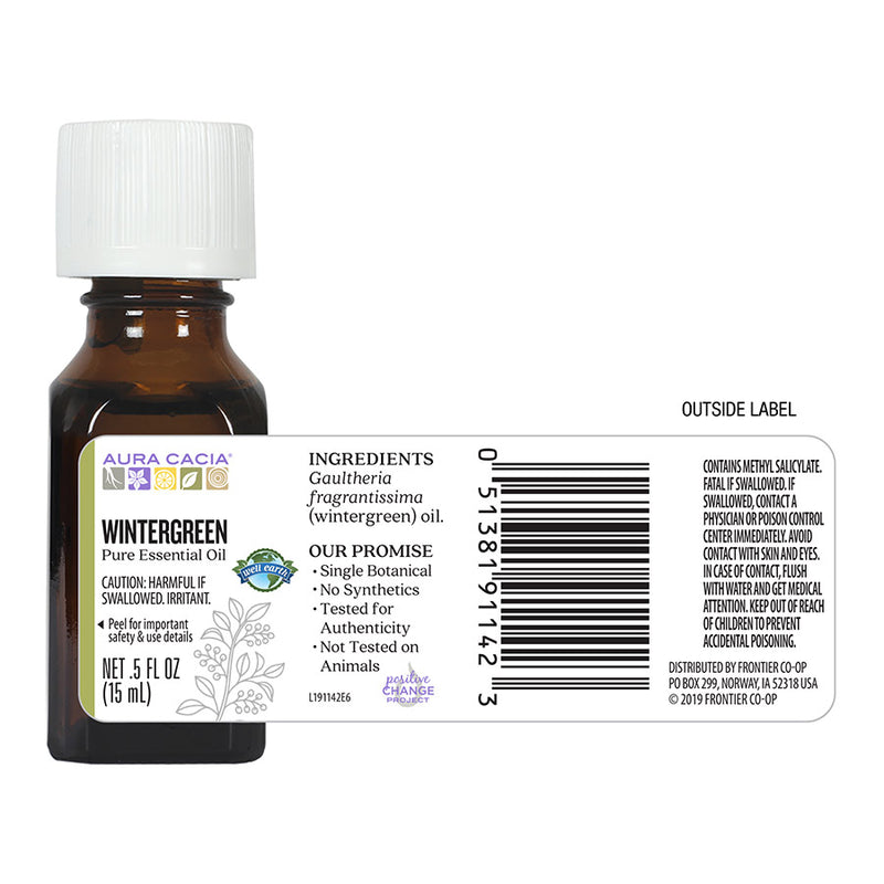 Aura Cacia Wintergreen Essential Oil .5 oz.