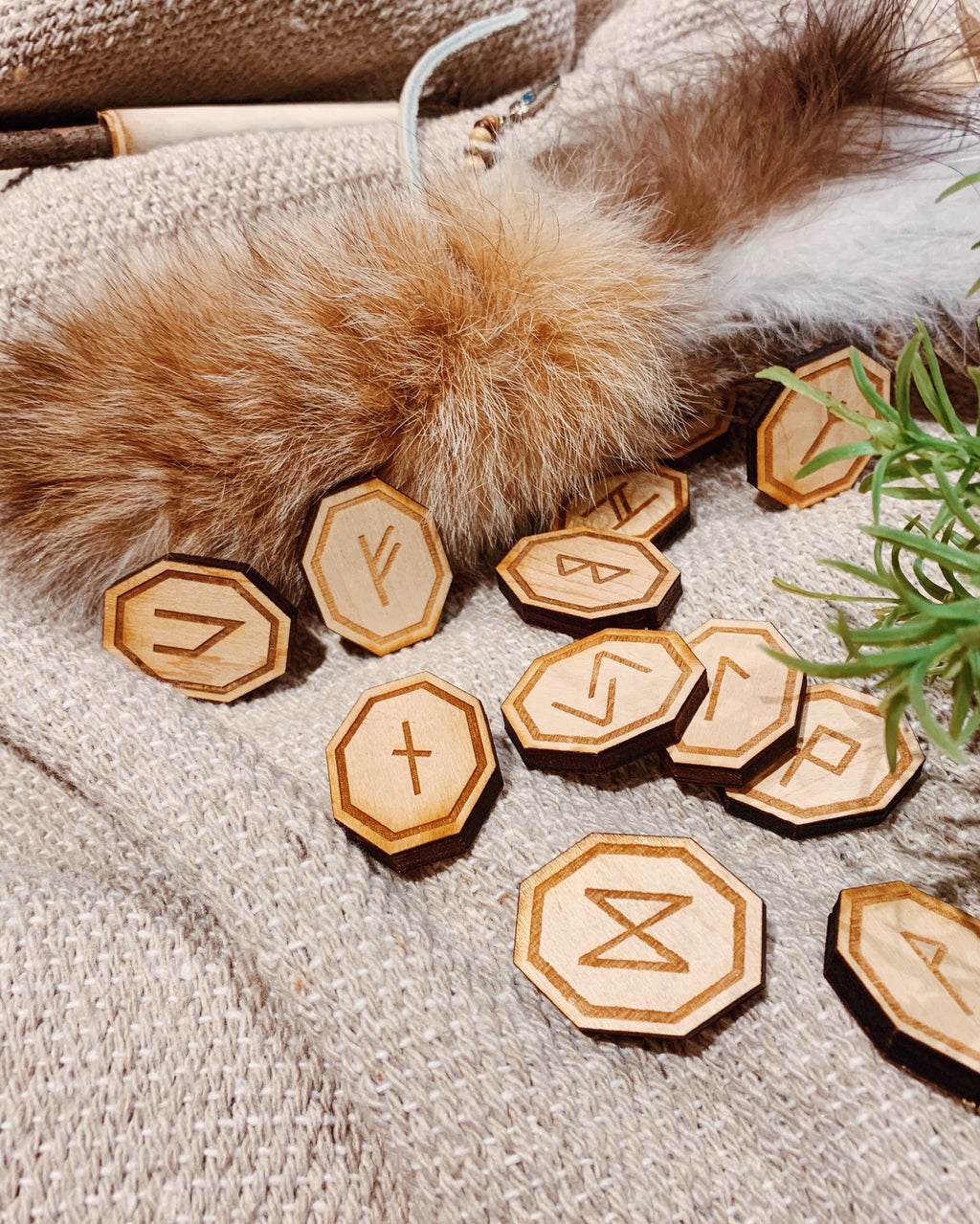 Elder Futhark Wooden Rune Set