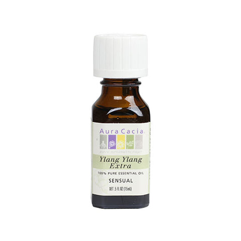 Aura Cacia Vanilla Essential Oil in Jojoba Oil 0.5 oz