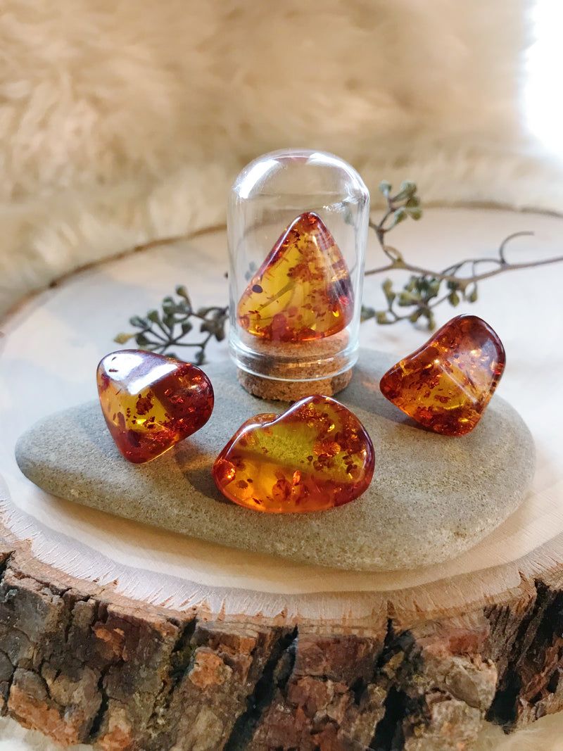Tumbled Amber for Joy & Healing