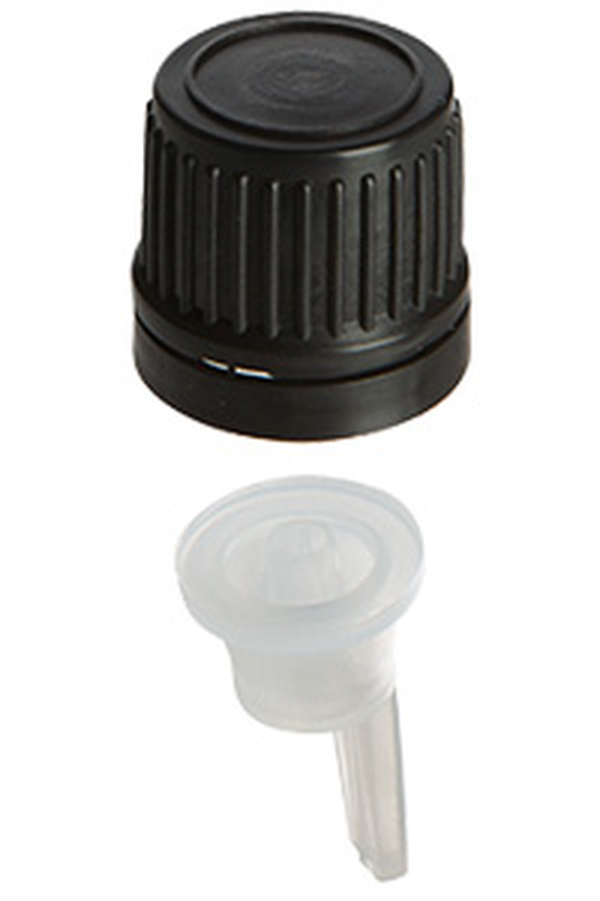 Glass Drip Cap Bottles - Various Colors & Sizes