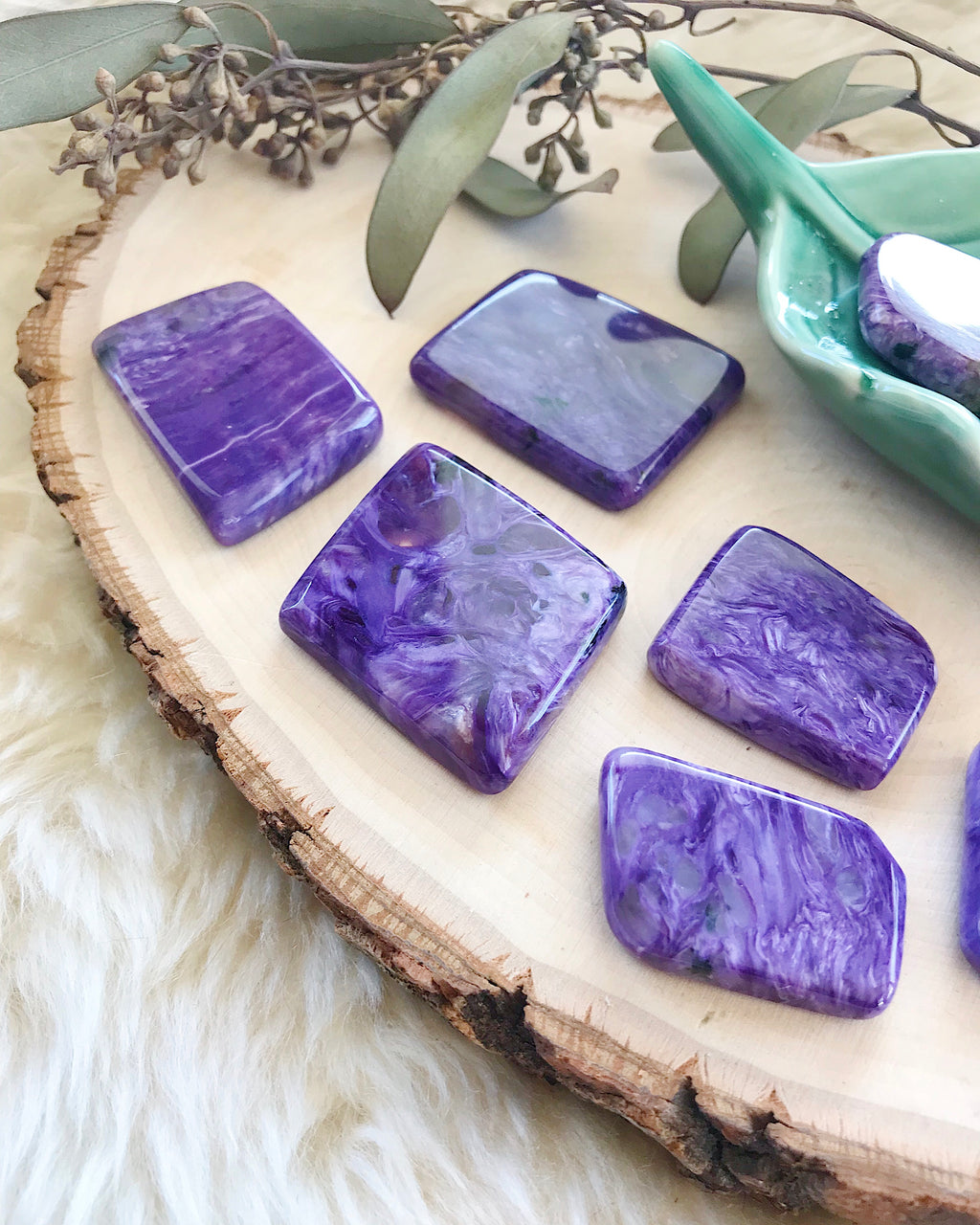 Charoite Slices for Working with the Past