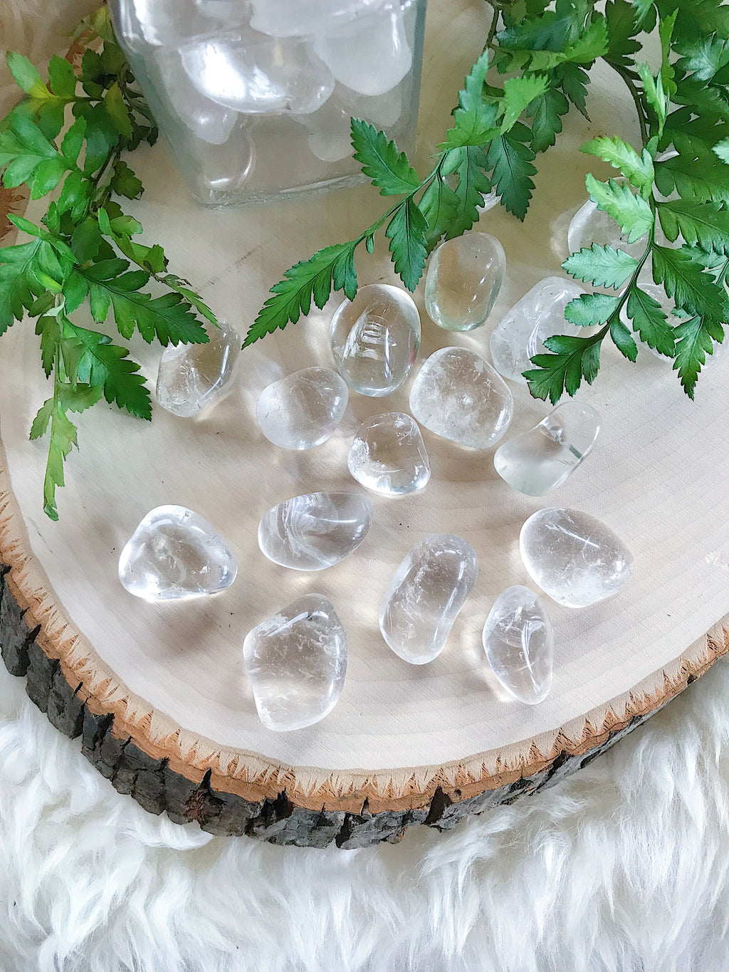 Tumbled Clear Quartz for Amplifying Energy & Intention