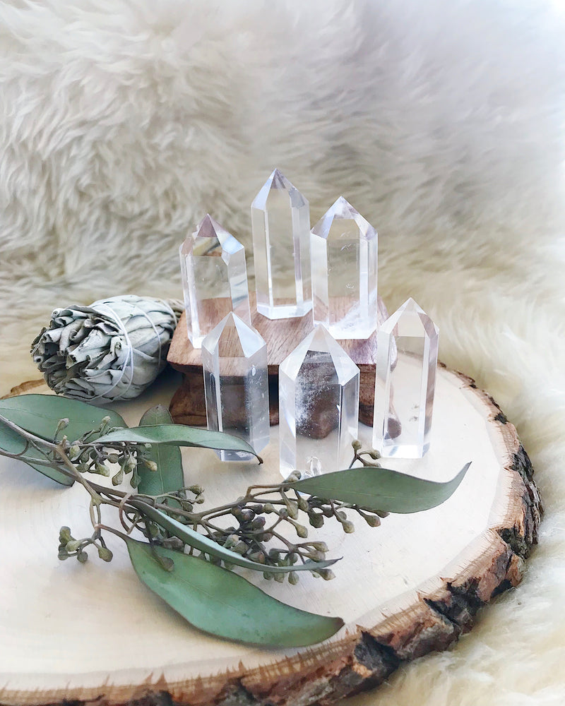 Clear Quartz Mini Generators for Amplifying Energy & Intention