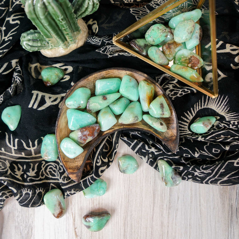 Tumbled Chrysoprase for Compassion & Self-Reliance