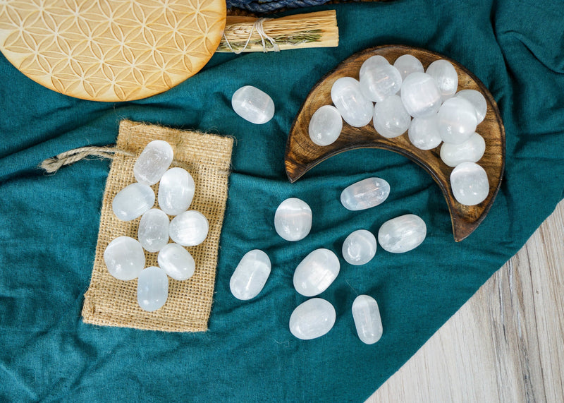 Tumbled Selenite for Cleansing & Purification