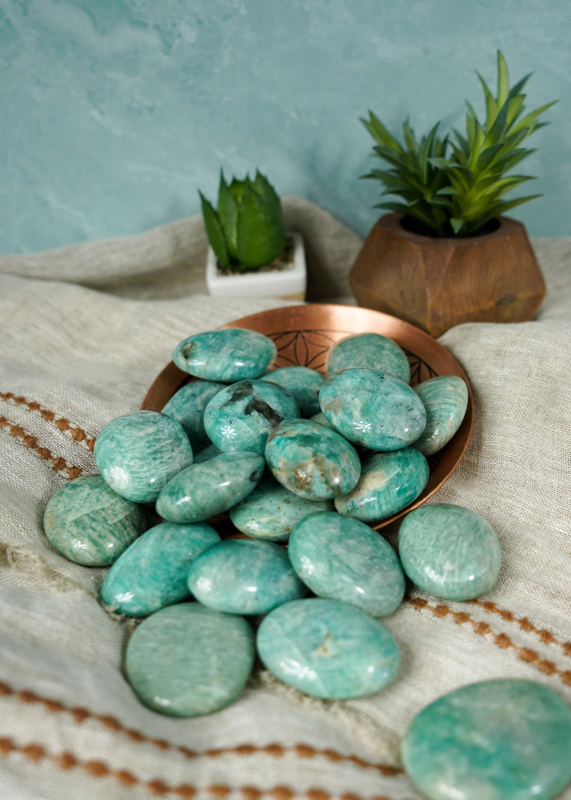 Amazonite Palm Stones for Inner Peace